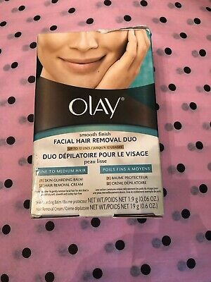 NIB Olay Smooth Finish Facial Hair Removal Duo for Fine to Medium Hair