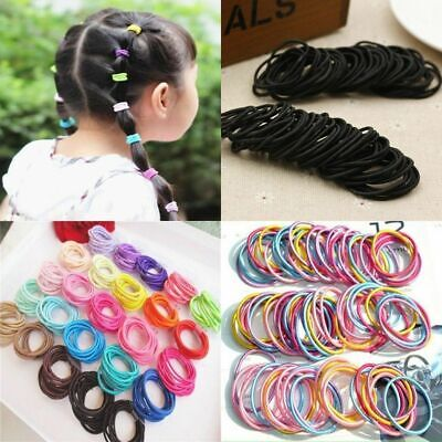 100Pcs Kids Girl Elastic Rope Hair Ties Ponytail Holder Head Band Hairbands BU