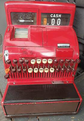 Vintage Red National Cash Register