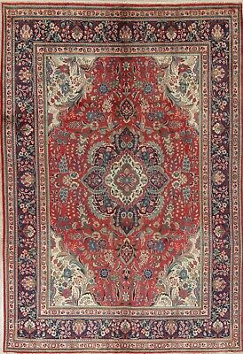 Unique Medallion Floral Tebriz Persian Oriental Hand-Knotted 6x10 Wool Area Rug