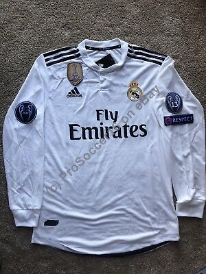 designer fashion 1e2be f1bd9 2018/19 REAL MADRID CF Home Kit - Player version Long Sleeve - UCL- LaLiga-  SALE