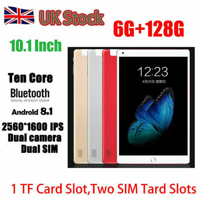 """10.1"""" Inch Tablet PC Android 8.1 Ten Core Wifi 6GB+128GB Bluetooth4.0 Phone Call"""