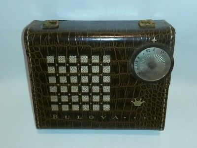 Vintage BULOVA Watch Precision Model Adventurer Portable Transistor Radio ~PARTS