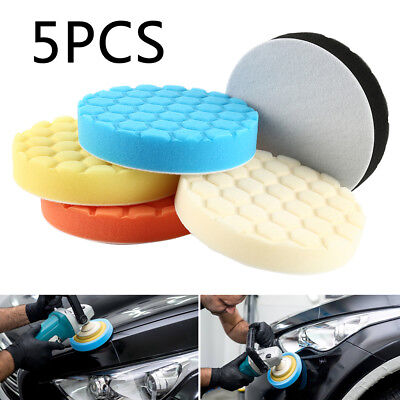 "5 Pack 6/7"" Polishing Sponge Waxing Buffing Pads Compound Auto Car Polisher"
