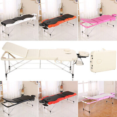 Professional Foldable Massage Bed Portable Beauty Salon Therapy Table 2/3Section
