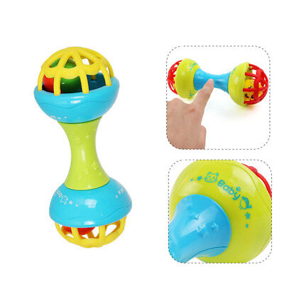 Baby Shaker Hand Bell Rattles Sound Grasp Teether Ball Finger Early Exercise Toy