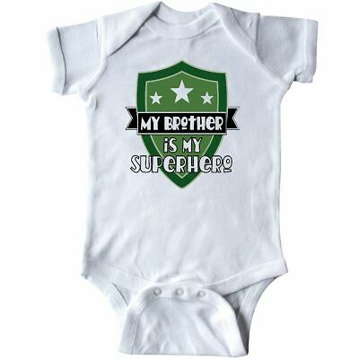 Inktastic My Brother Is My Superhero Infant Creeper Childs Shield Families Pride