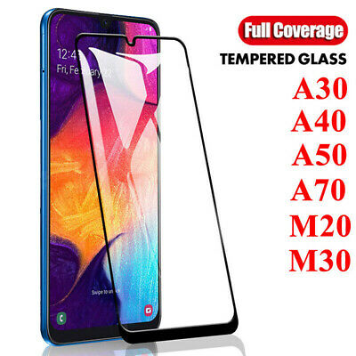 For Samsung Galaxy A50 A40 A30 9H Full Coverage Tempered Glass Screen Protector