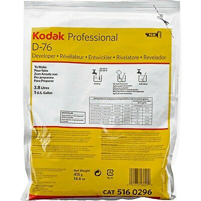 Kodak D-76 Developer for Black & White Film (Powder) Makes 1 Gallon exp 2020