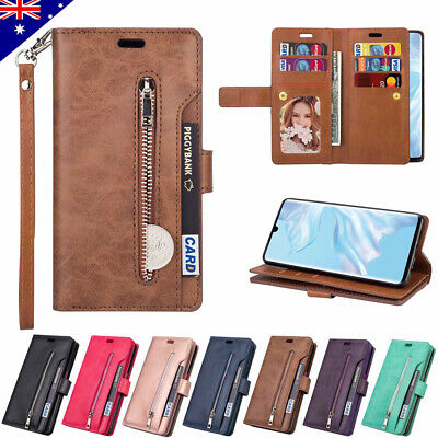 For Huawei P30 P20 Mate 20 Pro Lite Leather Flip Wallet Case Card Case Cover New