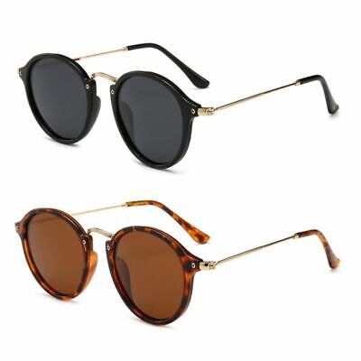 Retro Sunglasses Round Metal Frame Men Women Polarized Sunglasses Unisex