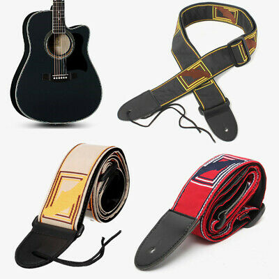 Adjustable Guitar Strap for Electric Acoustic Guitar Bass Fender Nylon Decor