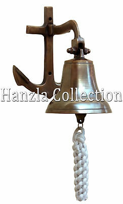Antique Brass Anchor Ship Bell~Nautical Maritime Door Bell Vintage Home Decor