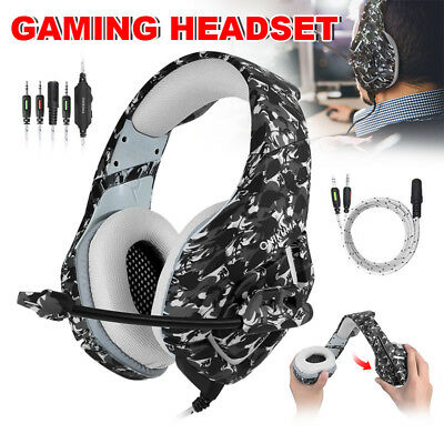 OZ ONIKUMA K1 Mic Stereo Bass Gaming Headset for Laptop PS4 Xbox One Camo TW