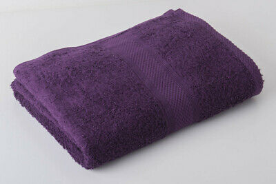12 x Purple Luxury 100% Egyptian Cotton Hairdressing Towels Salon Beauty 50x85cm