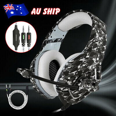 ONIKUMA K1 Mic Stereo Bass Camo Gaming Headset for PC Laptop PS4 Xbox One OZ