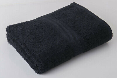 12 X Black Luxury 100% Egyptian Cotton Hairdressing Towels / Salon / 50x85cm