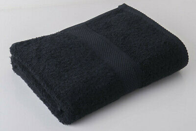 60 x Black  Luxury 100% Egyptian Cotton Hairdressing Towels Salon Beauty 50x85cm