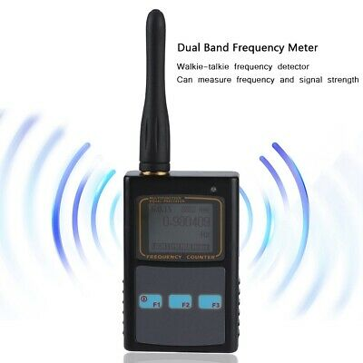 LCD Digital Handheld Frequency Meter Counter UHF Antenna Tester for Ham Radio