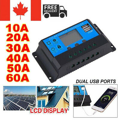 10A -60A 12V/24V Solar Panel Controller Regulator Charge Battery Protector LCD