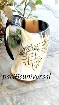 Game Of Thrones Stark Sigil Wolf Viking-Drinking Horn Mug Cup Beer Wine Royal
