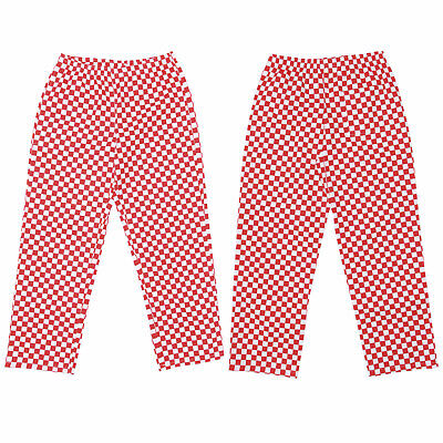 3c23b4769902 Chef Trousers Red Check Chef Pants Uniform Unisex Elasticated Work Kitchen