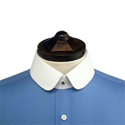 Double Rounded Starched Stiff Detachable Shirt Collar