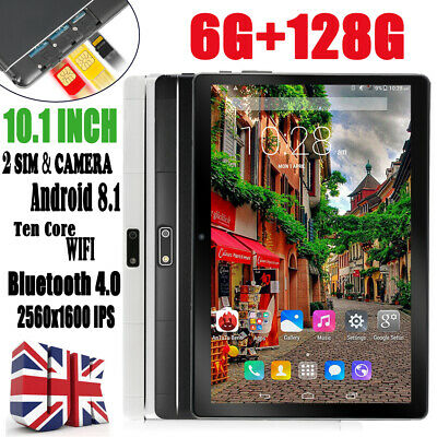 "10.1"" Inch Tablet PC 6G+128G Android 8.1 Ten Core Wifi Dual SIM & Camera Phablet"