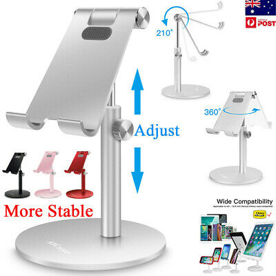 Universal Adjustable Tablet Phone Desk Stand Holder Mount Mobile iPad iPhone PC