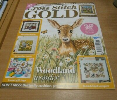 Cross Stitch Gold magazine #155 2019 Fawn, British Bird Sampler, Easter Tags &