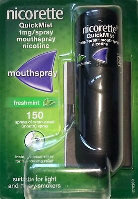 Nicorette QuickMist 1mg/spray mouthspray nicotine 1X150  (Genuine)