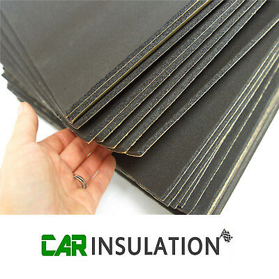 12 Large Sheets Car Van Sound Proofing Deadening 6mm Insulation Closed Cell Foam