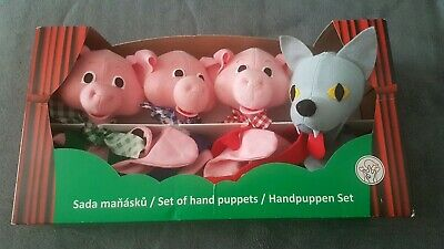 Hand Puppets The Big Bad Wolf and 3 Little Pigs Hand Puppet