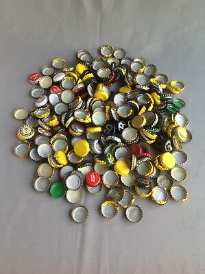 Quantity Of Used Beer/cider Bottle Metal Tops.