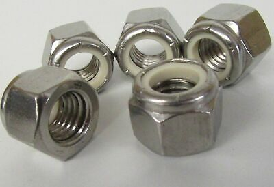 "UNF A2 Stainless Steel Nyloc Nuts Nylon Insert Locking 3/16"" 1/4"" 5/16"" 3/8"""