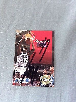 Shaquille O'Neal HAND SIGNED 1992 Skybox Card Rookie w/COA Very Rare