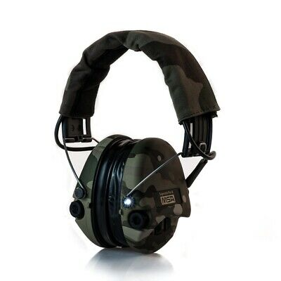 Msa Sordin Supreme pro x - Led - Protectors with Gel Cushion and Aux Input, Camo