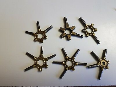 Job Lot Old Antique  Pocket Watch Keys Spider