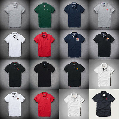 NEW Mens AF Muscle Fit  Abercrombie & Fitch Polo T shirt by Hollister in UK