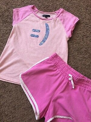 Gap Kids Girls Set short sleeve pink top with pink short size 10