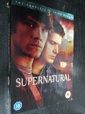 ***Supernatural - The Complete Third Season  DVD - REGION 2*** FREE P&P