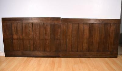 """8' 7"""" of Antique French Solid Oak Wood Paneling/Wainscoting from the 1700's"""