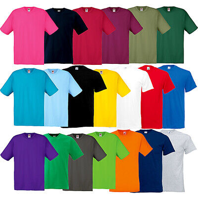 Men's Fruit Of The Loom Original T-Shirt Adults Blank Plain Tee