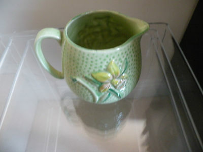 Lovely Retro Pottery Jug With Daffodil Design