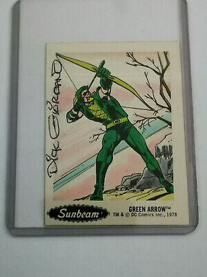 1978 Sunbeam DC Super Hero Stickers Food Issue # 25, signed by Dick Giordano