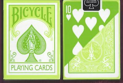 1 DECK Bicycle Fashion green reverse-face playing cards