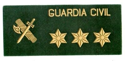 parche GUARDIA CIVIL CAPITAN grado pecho , spain police patch