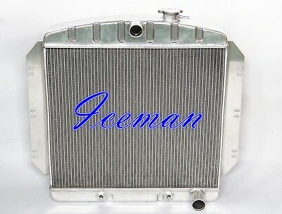 Polished 3 Rows Stamp Tank Aluminum Radiator For 60 61 62 Chevy Truck Gm Pickup