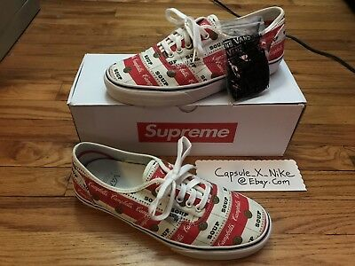 358a159353631b 2012 Authentic Supreme X Vans Campbells 10.5 Authentic Era Box Logo Soup  Dipset