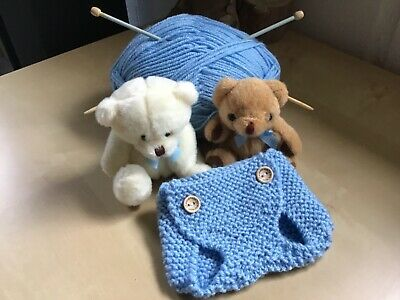 New Born hand knitted nappy cover